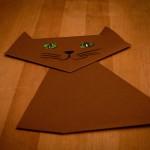 Katze aus Papier basteln