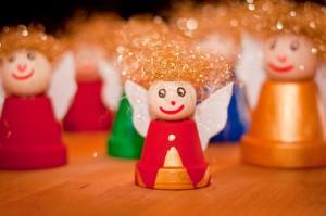 Weihnachtsengel, gebastelt von den Kindern