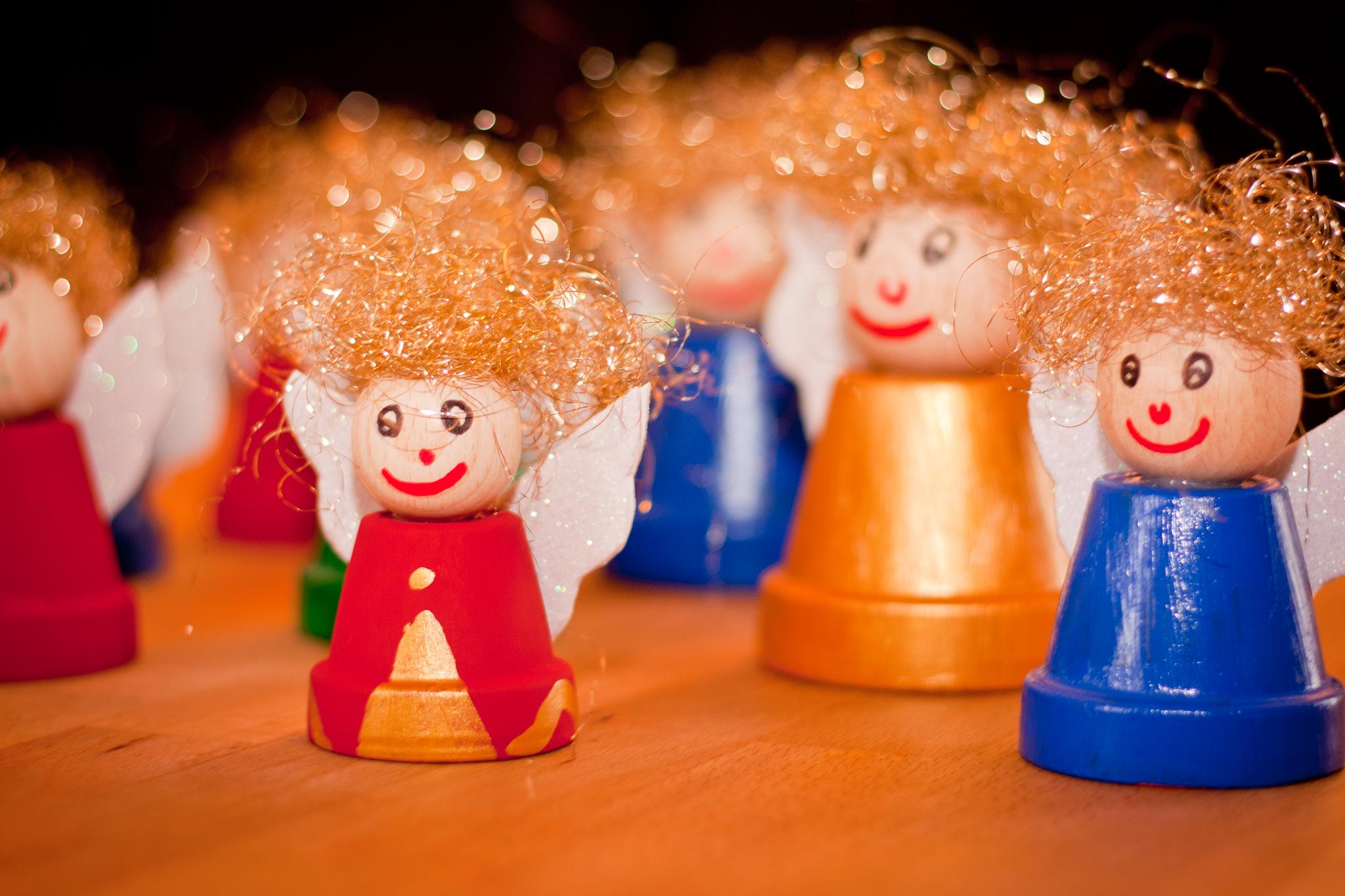 Vom struwwelpeter zum weihnachtsengel unser kreativblog - Weihnachtsengel basteln ...
