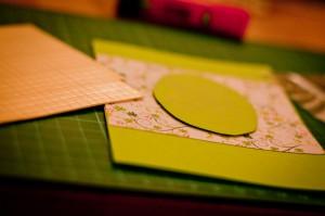 Osterkarten selbst gebastelt - Karte mit 3D-Effekt