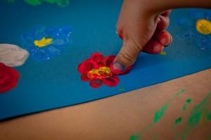 Fingerfarbenbilder zum Muttertag