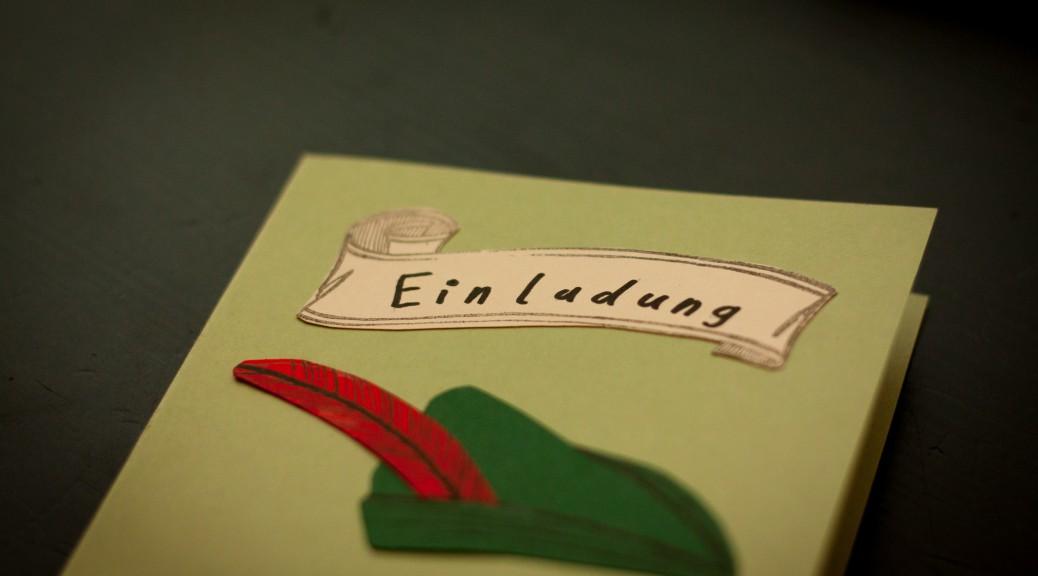 Einladungskarte zum Robin Hood-Abenteuer-Kindergeburtstag