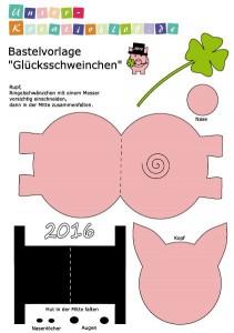 bastelvorlage zu sylvester gl cksschweinchen unser kreativblog. Black Bedroom Furniture Sets. Home Design Ideas