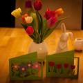 Bastelvorlage-Blumenkarte