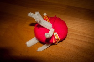 Pompon Spinne zu Halloween