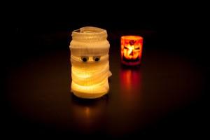 """Windlicht """"Mumie"""" zu Halloween"""