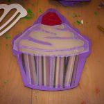 Bastelvorlage Cupcake Laterne zu St. Martin