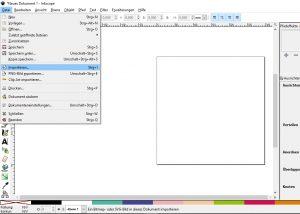 Bild in eine Plotterdatei umwandeln - Vorlage in Inkscape importieren