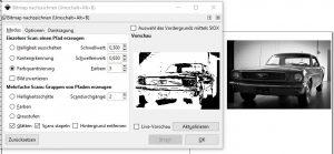 Bild in eine Plotterdatei umwandeln - Vorschau Bitmap-nachzeichnen