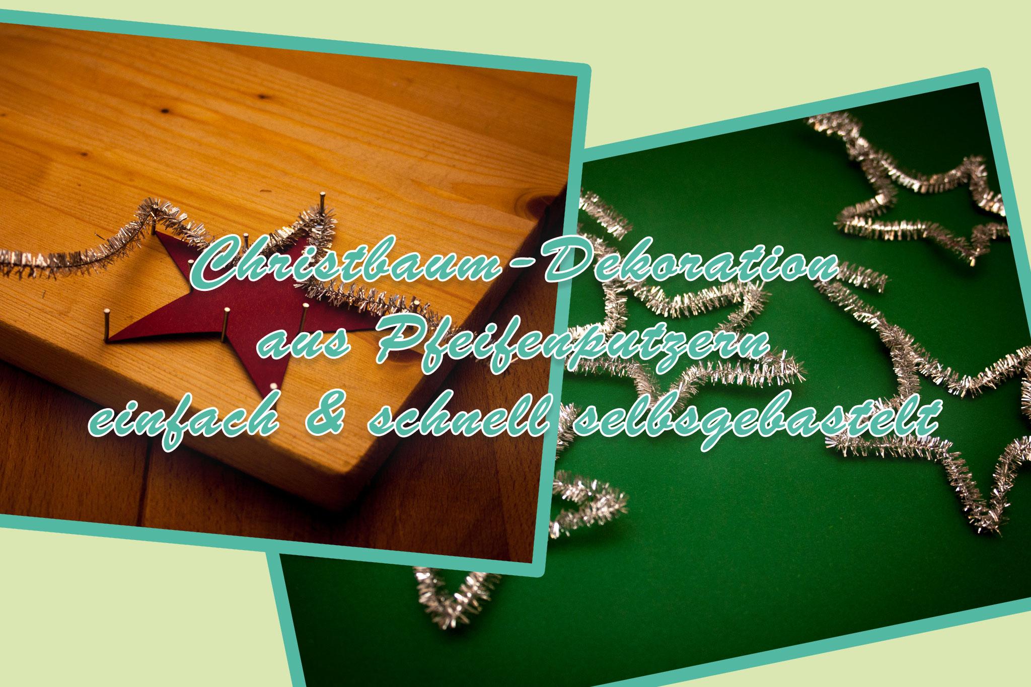 christbaumschmuck zu weihnachten aus pfeifenputzern schnell und einfach mit den kindern. Black Bedroom Furniture Sets. Home Design Ideas