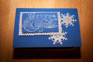 """Weihnachtliche Schüttelkarte """"Schneeflocken"""""""