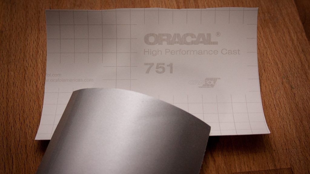Porzellan beplotten - Test Vinylfolie