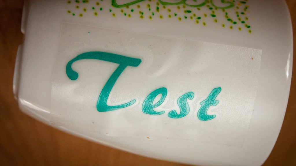 Porzellan beplotten - Test lebensmittelechte Klebefolie