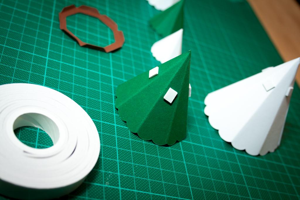 Dekorative Tannenbaum Schachtel Zu Weihnachten Unser Kreativblog