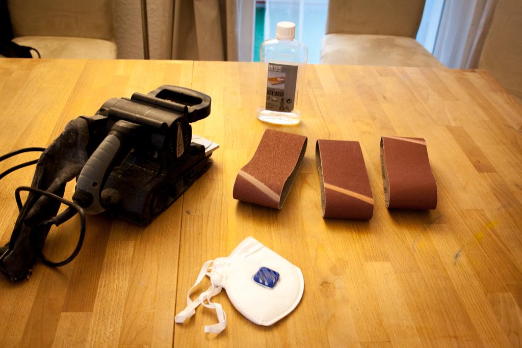 Projekt Ikea Tisch Norden Abschleifen Unser Kreativblog