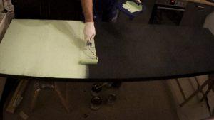 DIY Magnetische Tafel mit Eisenfarbe und Tafelfarbe