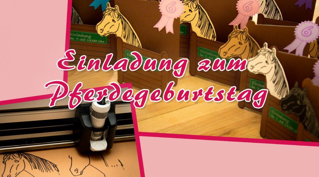 Einladung zum Pferdegeburtstag