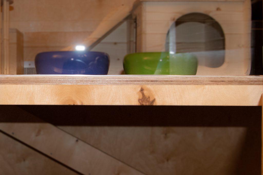 DIY - Kaninchenstall - Konstruktion des Unterzuges für die beiden Böden