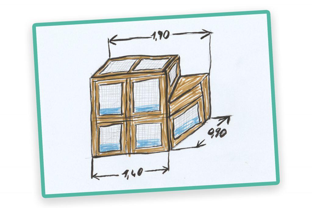 DIY - Kaninchenstall - aus Multiplex selbst gebaut - Der erste Plan