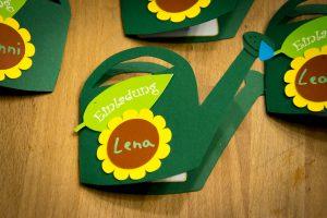 Einladungskarte Kindergeburtstag - Gartenparty