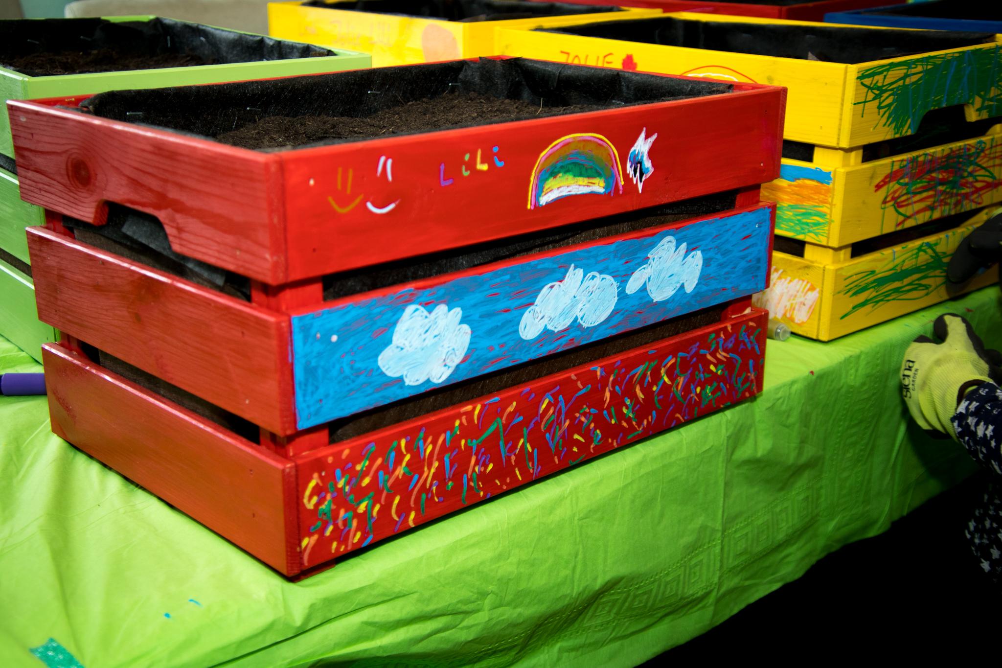Kindergeburtstag – Hochbeet bauen   Unser Kreativblog